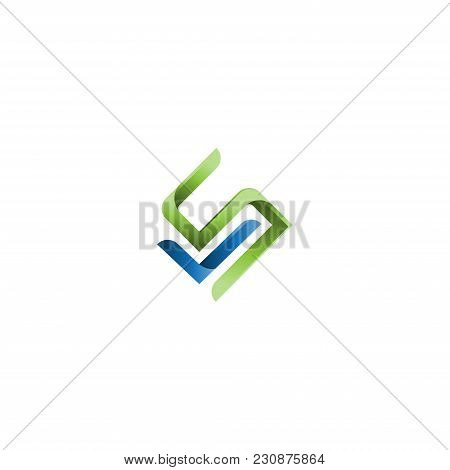 Letter Sl Logo Initial Vector Mark. Sl, S And L Letter Abstract Vector Logo Design Template. Creativ