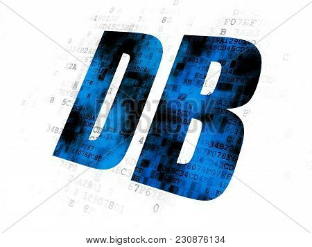 Stock Market Indexes Concept: Pixelated Blue Text Db On Digital Background