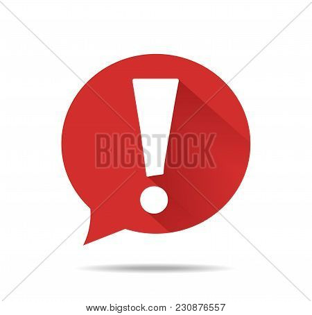 New Exclamation Mark Icon. Attention Sign Icon. Hazard Warning Symbol. Vector Eps 10