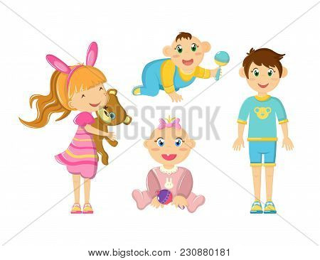 Children S Games, Active Mobile Outdoor Games, Fun Activities And Walks. Young And Newborn Children,
