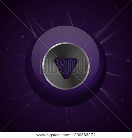 Magic Ball. Predictions Of The Future. Vector Illustration. Sphere On The Dark Sky Background.