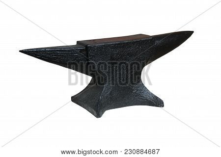 A Traditional Black Heavy Metal Blacksmith Anvil.