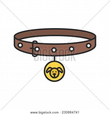 Dog's Neck Collar Color Icon