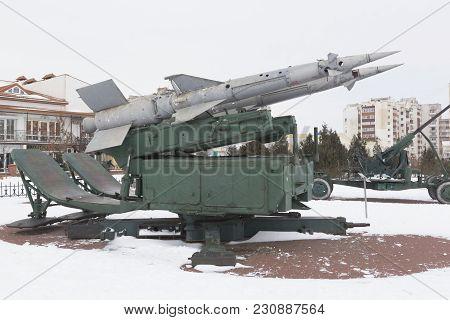 Evpatoria, Crimea, Russia - February 28, 2018: S-125
