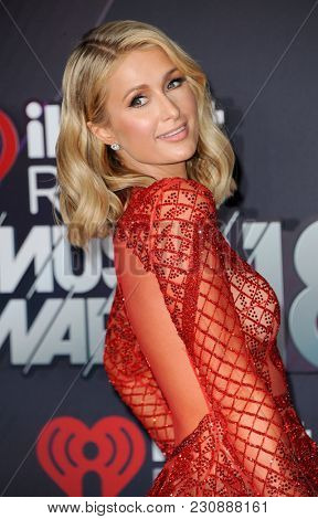 Paris Hilton at the 2018 iHeartRadio Music Awards held at the Forum in Inglewood, USA on March 11, 2018.