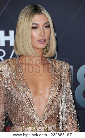 Hailey Rhode Baldwin at the 2018 iHeartRadio Music Awards held at the Forum in Inglewood, USA on March 11, 2018.