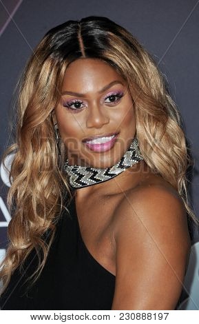 Laverne Cox at the 2018 iHeartRadio Music Awards held at the Forum in Inglewood, USA on March 11, 2018.