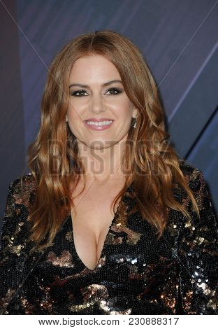 Isla Fisher at the 2018 iHeartRadio Music Awards held at the Forum in Inglewood, USA on March 11, 2018.