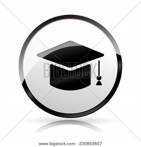 Illustration Of Graduation Hat Icon On White Background