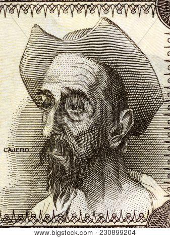 Don Quixote Portrait From Spanish Money - Peseta