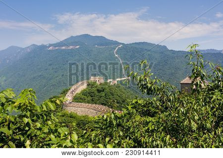 Great Wall Of China, Mutianyu Section, Located Nearby Beijing City