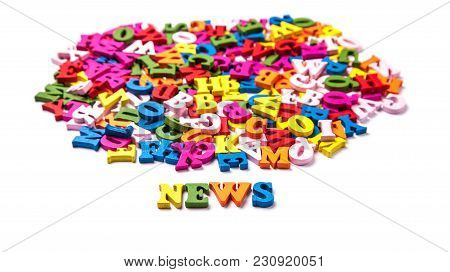Word News From Color Letters Of The English Alphabet