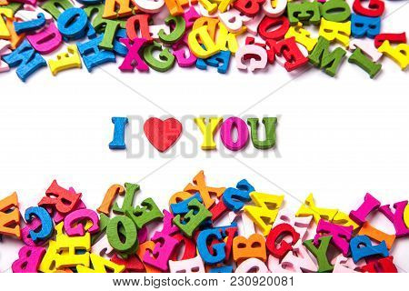 Words I Love You From The Colored Letters Of The English Alphabet