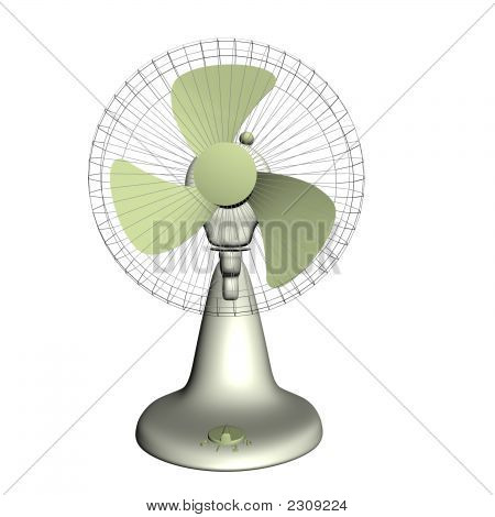3D Render Of The Plastic Electrical Fan