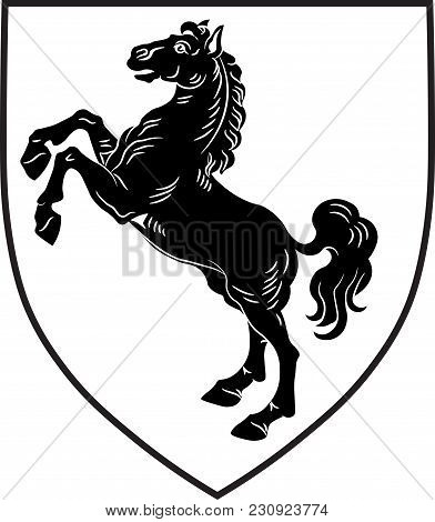 Coat Of Arms Of Herford District In The Northeastern Part Of North Rhine-westphalia, Germany. Vector