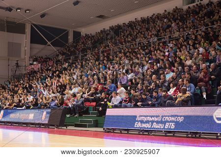 Samara, Russia - December 01: Fans And Spectators On The Stand During The Bc Krasnye Krylia And Bc C