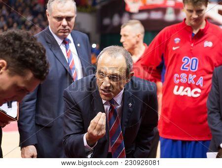 Samara, Russia - December 01: Bc Cska Head Coach Ettore Messina During The Bc Krasnye Krylia Basketb