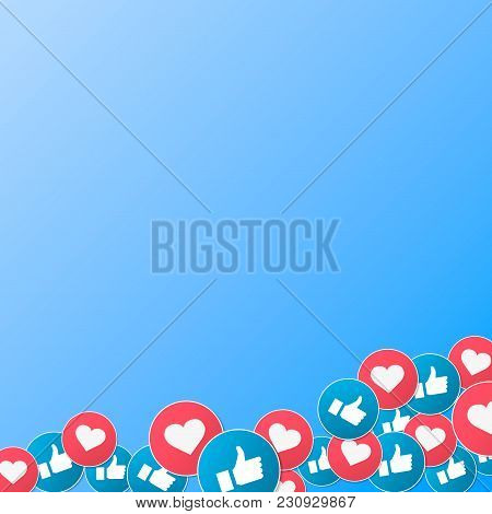 Vector 3d Social Network Like Icons Abstract Conceptual Illustration Isolated On White Background. D