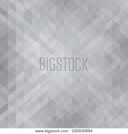 Abstract Dark Black Background Consisting With Triangles Illustration.