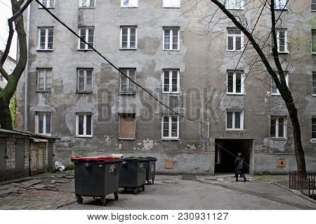 Warsaw, Poland - May 8 2017 Old Buildings In New Praga Which Is Very Popular Area Now