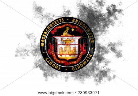 Bridgewater City Smoke Flag, Massachusetts State, United States Of America