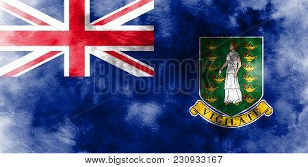 British Virgin Islands Grunge Flag, British Overseas Territories, Britain Dependent Territory Flag