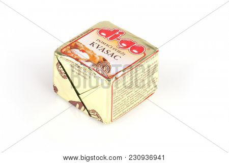ZAGREB, CROATIA - MARCH 02, 2018: Podravka Digo Yeast 40g is a legendary product of Croatian company Kvasac and was very popular for several decades. Its production was stopped in February 2018
