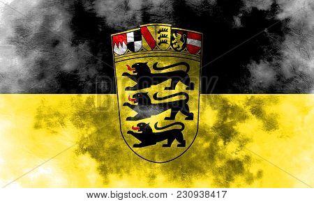 Baden Wurttemberg Grunge Flag, Germany State, Baden Wurttemberg