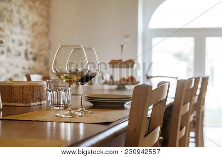 wine in the italian restaurant