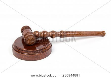 Hammer For The Judge And Holding Auctions.