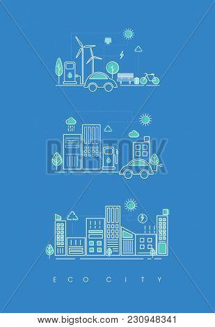 Illustration of eco city