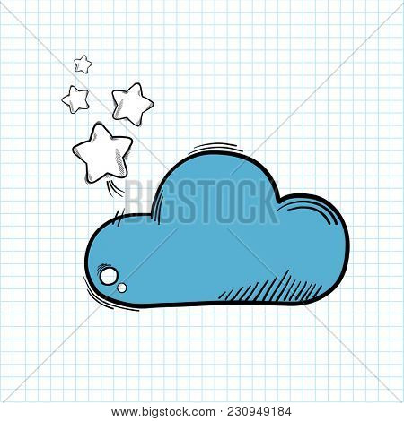 Illustration of cloud isolated on background