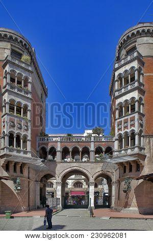 Istanbul Turkey 05 July 2017 The Courtyard Of The Church Of Saint-antoine St Antony Of Padua