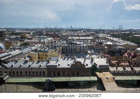 Saint- Petersburg, Russia - July 10, 2016: Top View Of The Historical Center Of Saint-petersburg, Ru