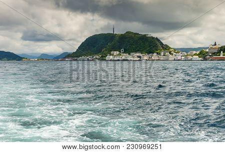 View On Alesund From Pleasure Motorboat, Norwegian Sea, Norway, Europe