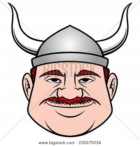 Viking Dude - A Vector Cartoon Illustration Of A Guy Dressed As A Viking.
