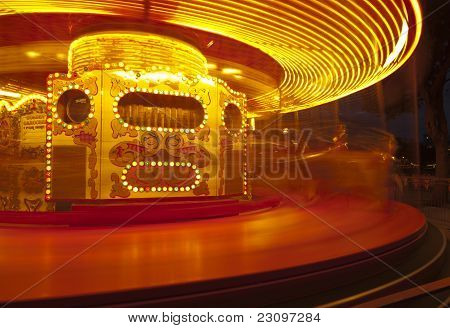 Carousel Blur Close Up