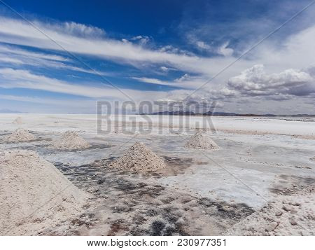 This Image Shows Salt Piles On Bolivia S Salar De Uyuni