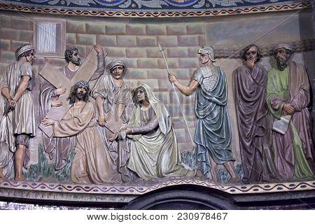 Barcelona-july 25: The Temple Expiatori Del Sagrat Cor On The Summit Of Mount Tibidabo On July 25, 2
