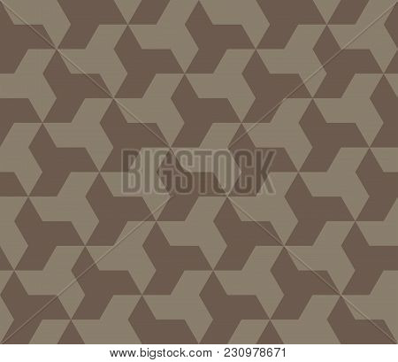 Seamless Vector Background Of Stars. Seamless Abstract Pattern. Abstract Ornament Of Repeating Eleme