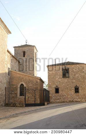 Stone Buildings In The Village Of Belmonte, Province Of Cuenca, Spain.