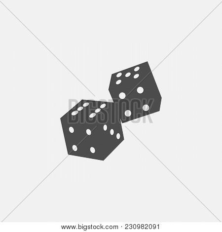 Game Symbol Of Playing Dice Web Vector Line Icon