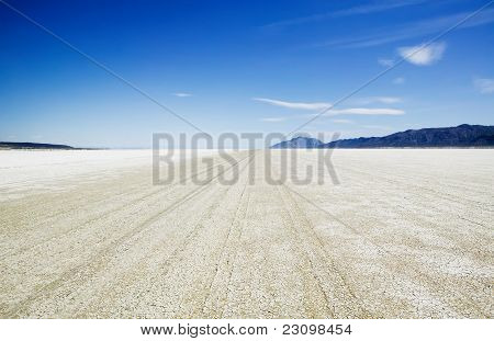 Playa Of The Black Rock Desert East Of Gerlach Nevada