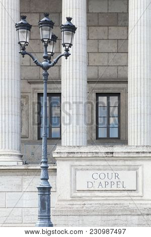 Court Of Appeal Called Cour Appel In French, France