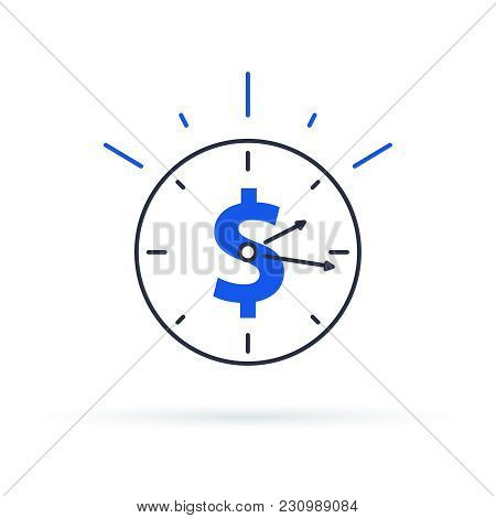 Time Is Money Concept, Clock And Coin For Long Term Financial Investment. Superannuation Savings, Fu