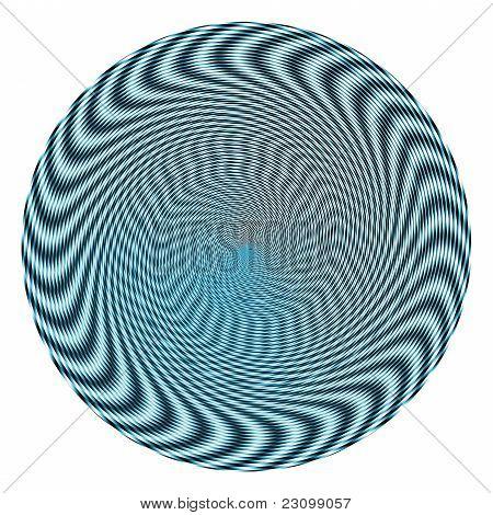 Blue Spiral Illusion