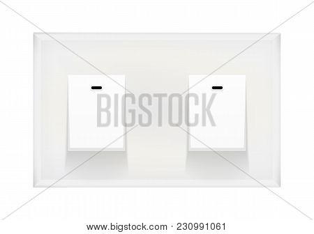 Light Switch Isolated On White Background Vector Illustration Eps10