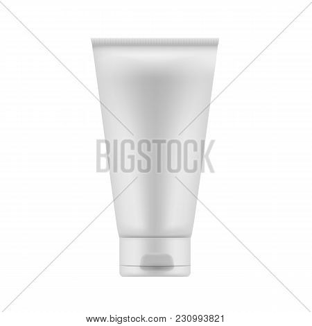Plastic Tube Of Cream Or Gel. Ready For Your Design. Product Packing Vector  Mockup.