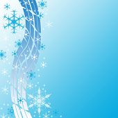 Christmas decorative background with snowflakes.Background With Snowflakes poster