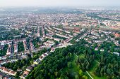 City Municipality of Bremen Aerial FPV drone footage. Bremen is a major cultural and economic hub in the northern regions of Germany. poster